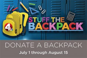 Donate a backpack July 1 - August 15